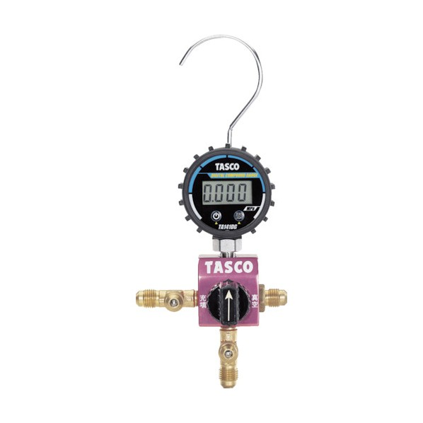 タスコ タスコ ボールバルブ式デジタルシングルマニホールドキット 300 x 420 x 100 mm TA123DG-1 水道・空調配管用工具