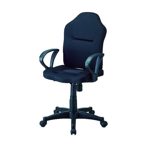 トラスコ(TRUSCO) TRUSCO ダブルクッション 長時間椅子(肘掛付き) ブラック 610 x 610 x 111 mm 1脚