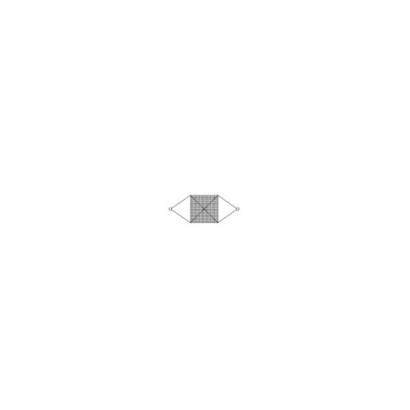 大洋 大洋 ワイヤモッコ シート付 12×9×150目×2M角 1000×1000×300MM WRM150X2S 1台
