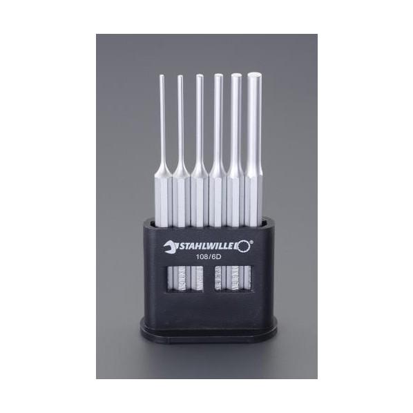 エスコ(esco) 2.5-8.0mm/6本組 平行ピンポンチ EA572S-1 1セット