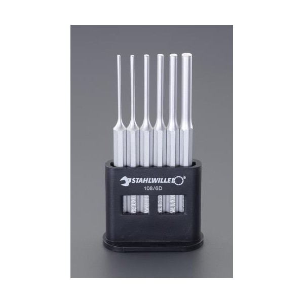 エスコ(esco) 2.5-8.0mm/6本組 平行ピンポンチ EA572S-2 1セット