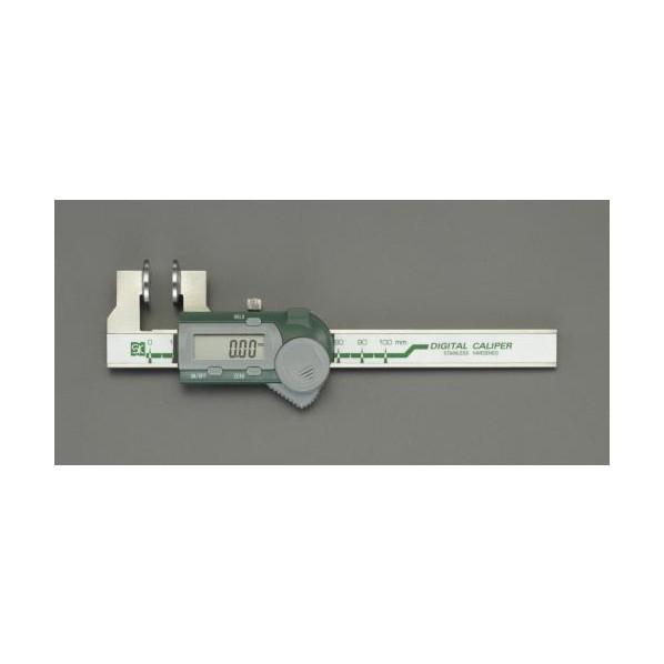※法人専用品※エスコ(esco) 100mm デジタルノギス(ワイヤーロープ用) EA725CV-100 1個