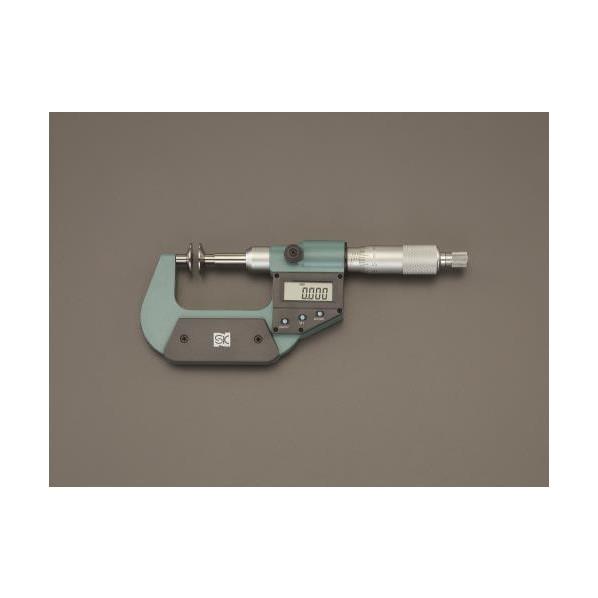 ※法人専用品※エスコ(esco) 0- 25mm デジタルマイクロメーター(歯厚) EA725EH-75 1個