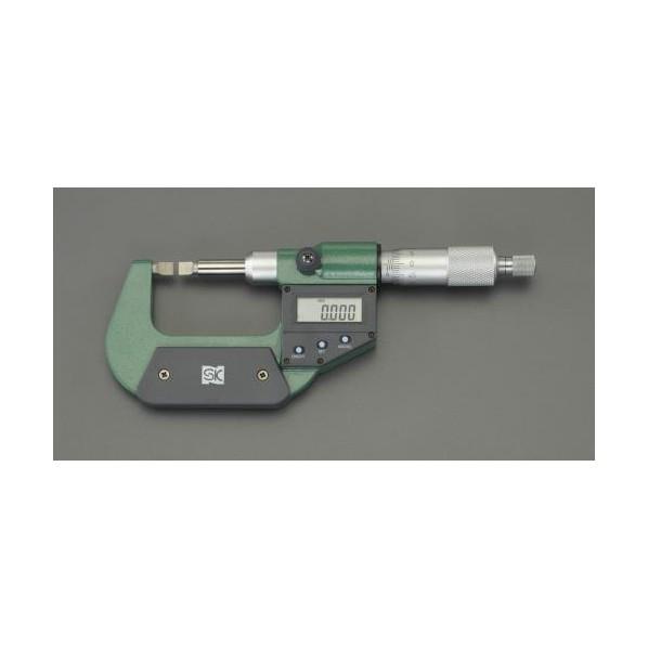 ※法人専用品※エスコ(esco) 0- 25mm デジタルマイクロメーター(ブレード型) EA725EH-80 1個