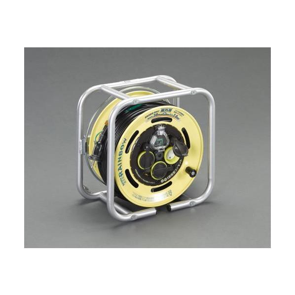 エスコ(esco) AC125V/15A/30m コードリール(防雨・漏電遮断器付 EA815BF-45 1個