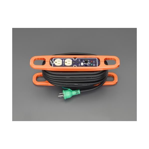 エスコ(esco) AC125V/15A/10m コードリール(アース・電流コントロール付 EA815GV-46 1個