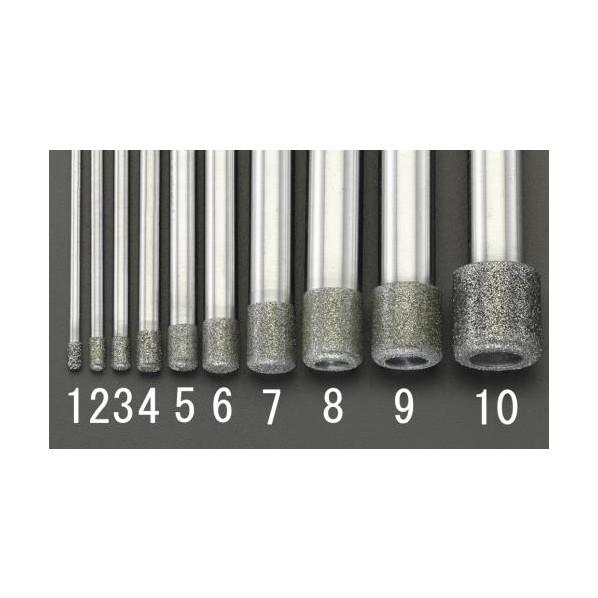 エスコ(esco) 12x12.0x100mm ダイヤモンドバー(10mm軸) EA819DY-9 1個