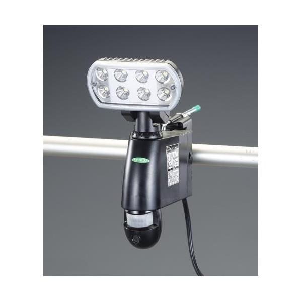 エスコ(esco) AC100V LEDセンサーライト(60Hz/カメラ付) EA864CA-210A 1台