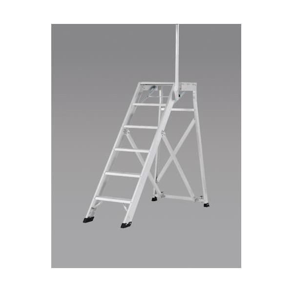 エスコ(esco) 1.25m/5段 作業台(手掛かり棒/折畳式) EA903BD-27 1台
