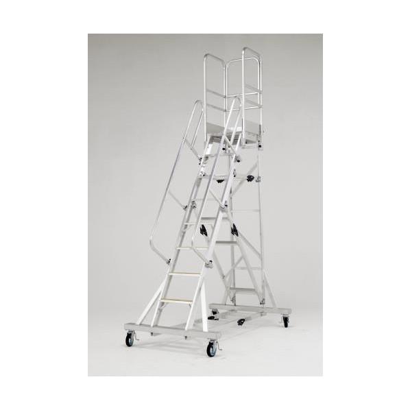 エスコ(esco) 3.26m/10段 作業台(手摺り付/折畳式) EA903BE-14 1個