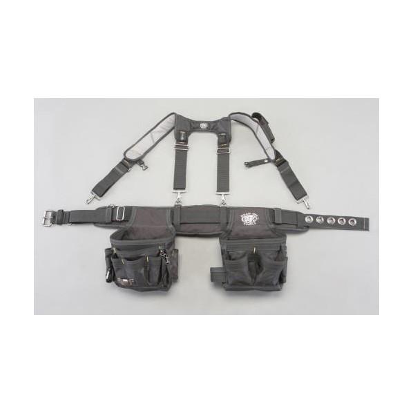 エスコ(esco) [14ポケット] ダブルツールポーチ(サスペンダー付) EA925MH-98 1個