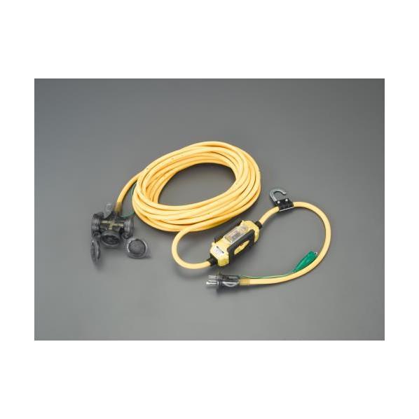 エスコ(esco) 15A x 10m 漏電遮断器付延長コード EA940MH-22 1個