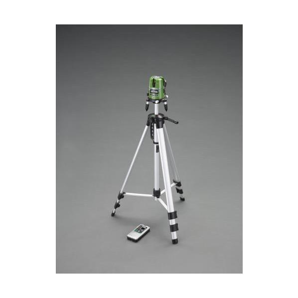 ※法人専用品※エスコ(esco) レーザー墨出し器(グリーンレーザー/三脚・受光器) EA780K-6SA 1個
