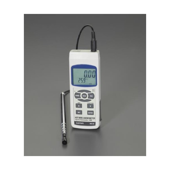 ※法人専用品※エスコ(esco) デジタル風速・風温計 EA743AD-4 1個