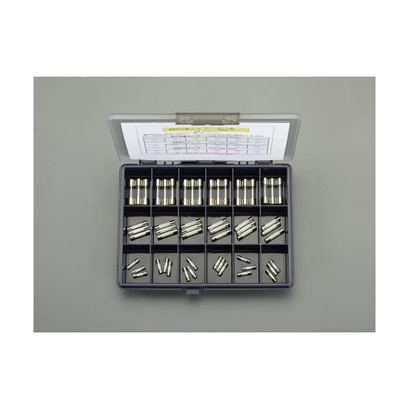※法人専用品※エスコ(esco) 250V/φ5.2・6.4・10.3mm 管ヒューズセット EA758ZY-0 1個