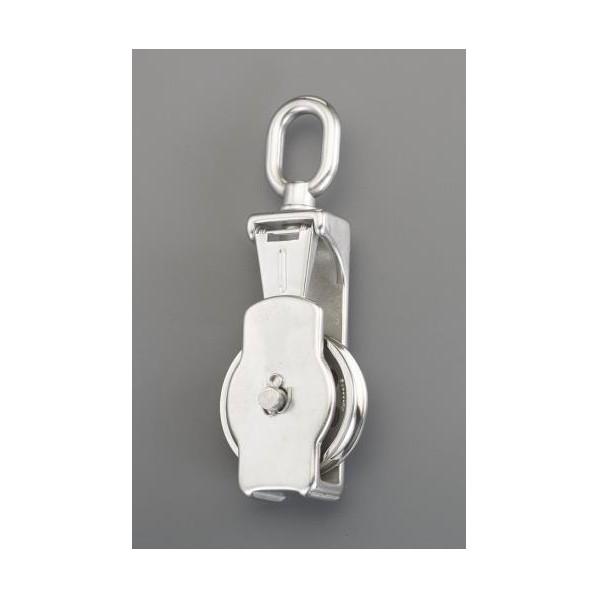 エスコ(esco) 102.0mm [ロープ用]リング付滑車(ステンレス製) EA987SP-14 1個