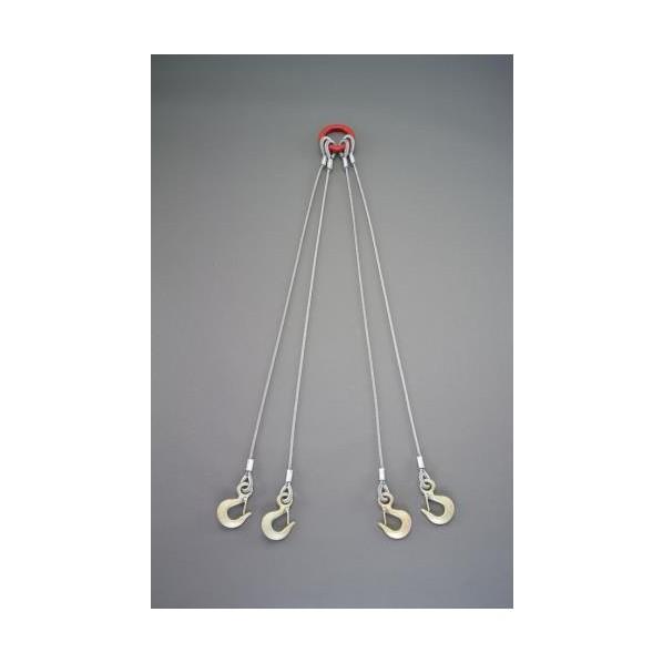エスコ(esco) 1.5 tonx2.0m ワイヤースリング(4本懸け) EA981WT-23 1セット