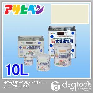 アサヒペン NEW 無臭 水性建物用 ティントベージュ 10L asahipen 塗料 水性塗料