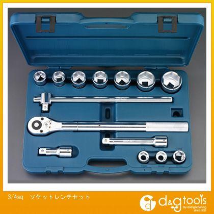 エスコ ソケットレンチセット 3/4sq (EA617EC-50) ソケットレンチセット ソケット レンチ