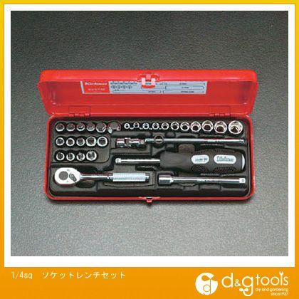 エスコ ソケットレンチセット 1/4sq (EA618-6) ソケットレンチセット ソケット レンチ