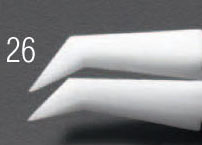 エスコ [デルリン/ステンレス製]ピンセット 110mm (EA595AP-26)
