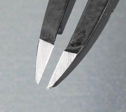 エスコ [カーボン/S製]カッティングピンセット 115mm (EA595AL-17)