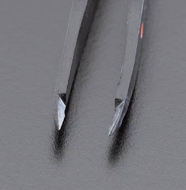 エスコ [カーボン/S製]カッティングピンセット 95mm (EA595AL-25)