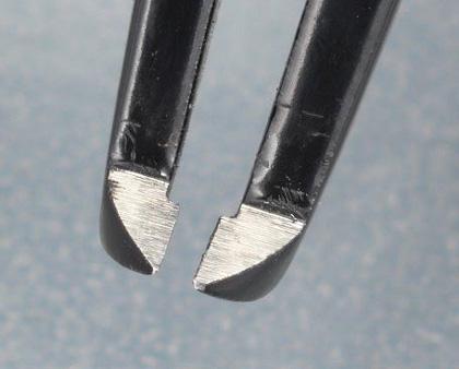 エスコ [カーボン/S製]カッティングピンセット 115mm (EA595AL-28)