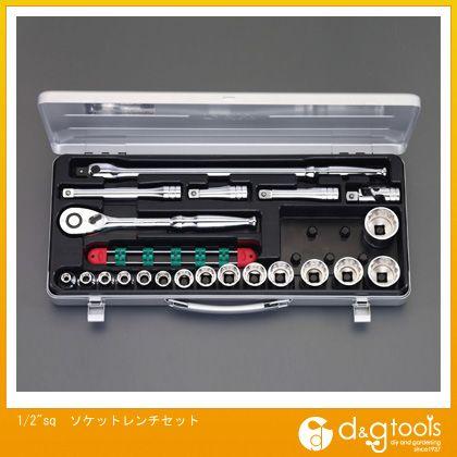 エスコ ソケットレンチセット 1/2Sq (EA618R-3) ソケットレンチセット ソケット レンチ
