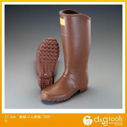 エスコ 絶縁ゴム長靴(7000V) 27.5cm (EA640ZJ-27.5)