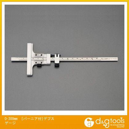 ※法人専用品※エスコ 0-300mm[バーニア付]デプスゲージ EA725FD-42
