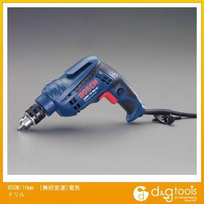 エスコ 450W/10mm[無段変速]電気ドリル (EA801BT-2)