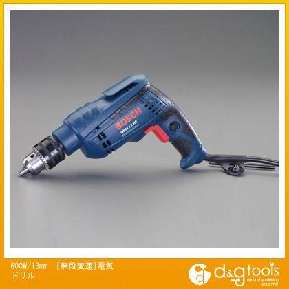 エスコ 600W/13mm[無段変速]電気ドリル EA801BT-3