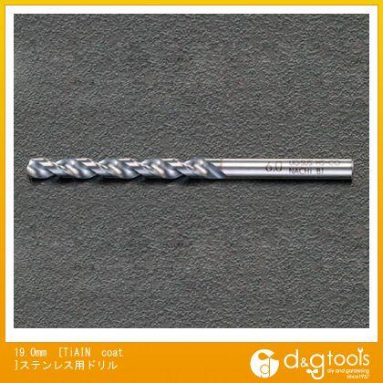 エスコ 19.0mm[TiAINcoat]ステンレス用ドリル (EA824NS-19.0)