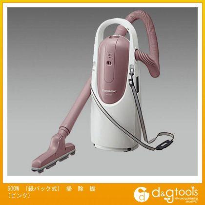 エスコ 500W[紙パック式]掃除機(ピンク) (EA899AM-58)
