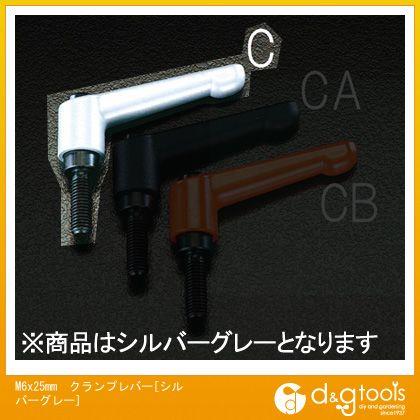 エスコ M6x25mmクランプレバー 当店限定販売 ランキングTOP5 シルバーグレー EA948C-14
