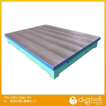 エスコ 750x1000x125mm/185kg箱型定盤[機械仕上] (EA719X-33)