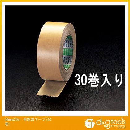 エスコ 50mmx25m布粘着テープ(30巻) (EA944NC-30)