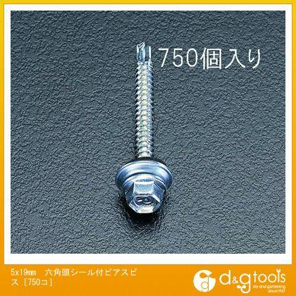 エスコ 5x19mm六角頭シール付ピアスビス[750コ] (EA949EF-51)