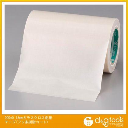 エスコ 200x0.18mmガラスクロス粘着テープ(フッ素樹脂コート) (EA944NJ-128)