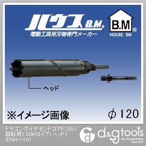 ハウスビーエム ドラゴンダイヤモンドコアドリル(回転用) DGHタイプ(ヘッドのみ) 120mm (DGH-120)