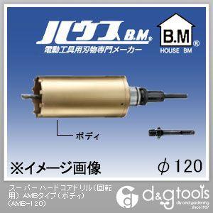 ハウスビーエム スーパーハードコアドリル(回転用) AMBタイプ(ボディのみ) 120mm (AMB-120)