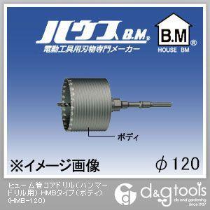 ハウスビーエム ヒューム管コアドリル(ハンマードリル用) HMBタイプ(ボディのみ) 120mm (HMB-120)