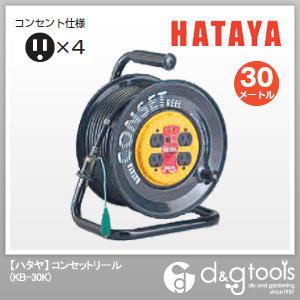 ハタヤ/HATAYA コンセットリール 電工ドラム・電工リール コンセント盤固定タイプ (KB-30K)
