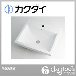 カクダイ 角型洗面器  493-003