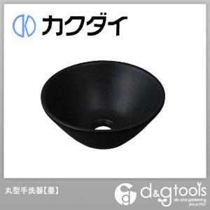 カクダイ 丸型手洗器 墨 493-011-D