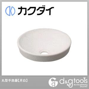 カクダイ 丸型手洗器 月白 493-012-W