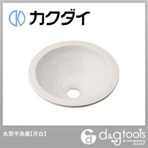 カクダイ 丸型手洗器 月白 493-013-W