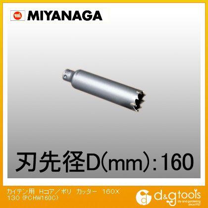 ミヤナガ 回転用コアドリル Hコア/ポリクリックシリーズ カッター (PCHW160C)