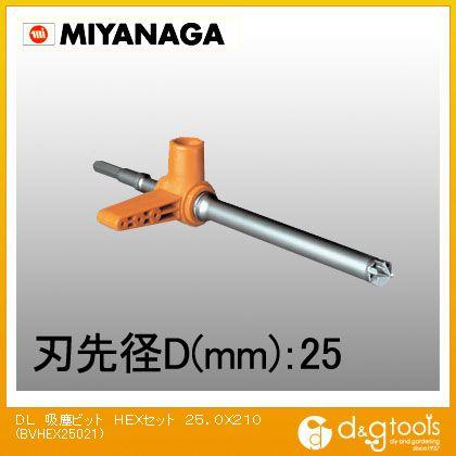 ミヤナガ デルタゴン吸塵ビットHEXセット BVHEX25021